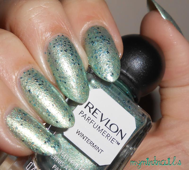 Revlon Wintermint and Revlon Parfumerie Wintermint Swatch by MyMintNails