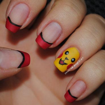 Pikachu  nail art by Ditta