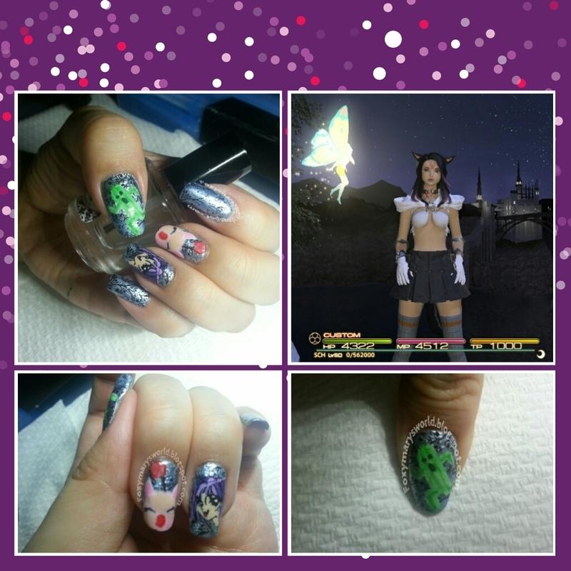 Final Fantasy XIV Nails nail art by Silje  Bannister
