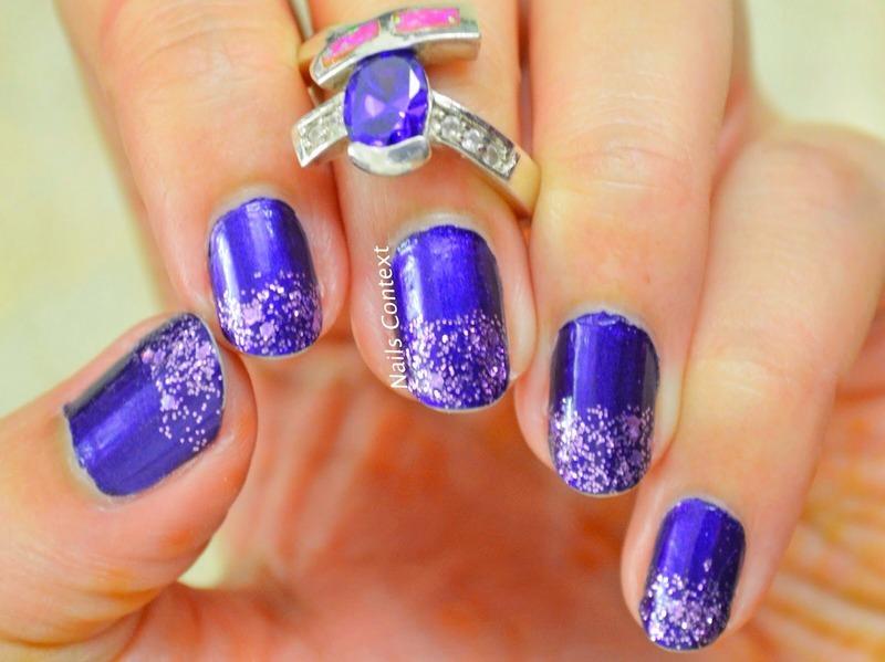 Purplicious  nail art by NailsContext