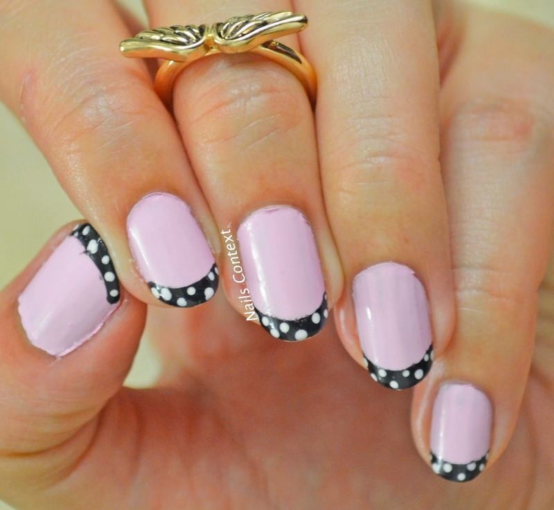 Pink Girly French Manicure nail art by NailsContext