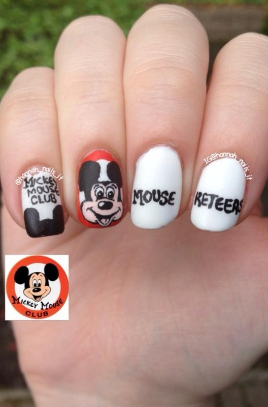 Join the (Mickey Mouse) club! nail art by Hannah