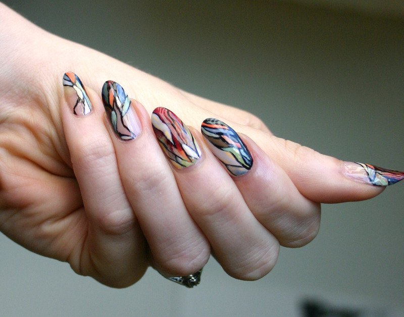 Abstract Shapes nail art by ladycrappo