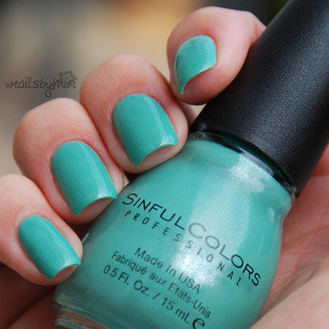 Sinful Colors Mint Apple Swatch by xNailsByMiri