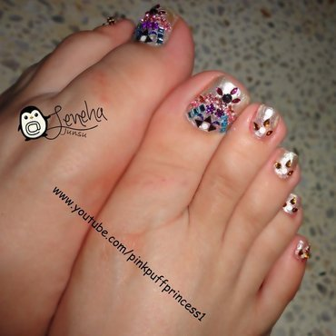 Traditional Toe Nail Art Tutorial nail art by Leneha Junsu