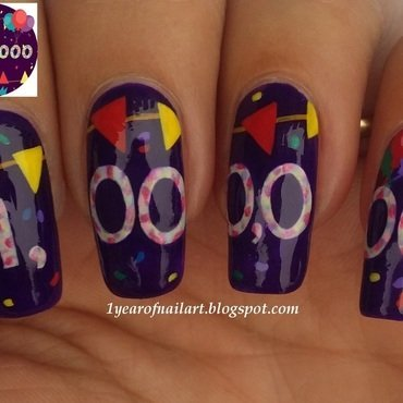 Nailpolis 1,000,000 Facebook Fans nail art nail art by Margriet Sijperda