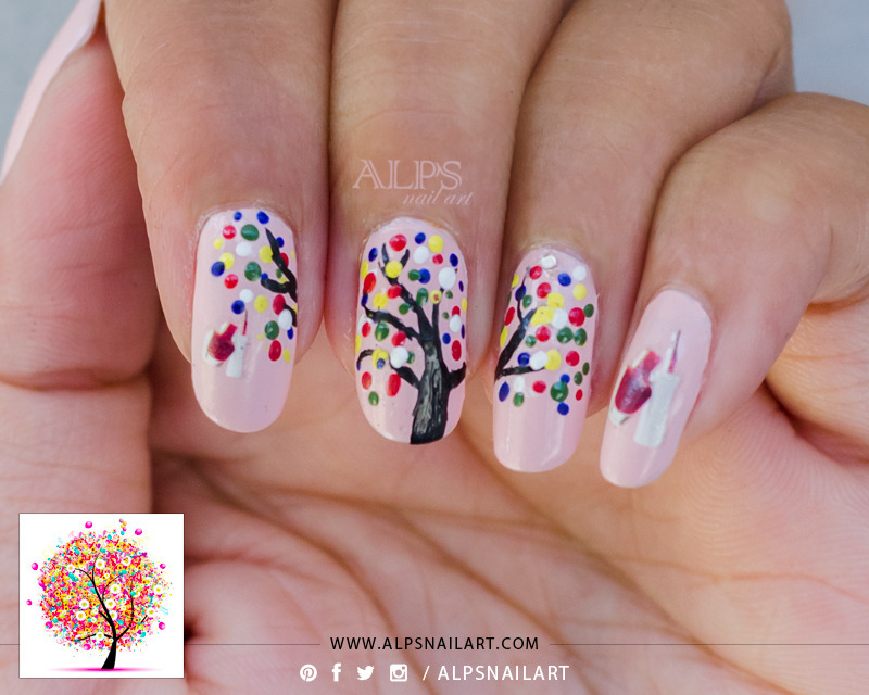 Celebration Nail art for Nailpolis by Alpsnailart nail art by Alpsnailart