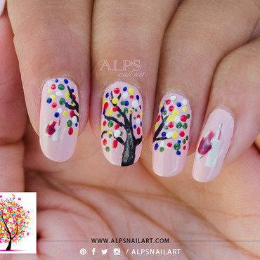 Celebration Nail art for Nailpolis by Alpsnailart nail art by Alpsnailart