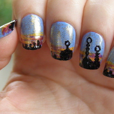 Cairo nail art by Szilvia
