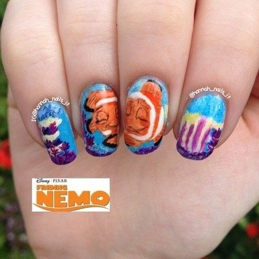 Nemo is found! nail art by Hannah