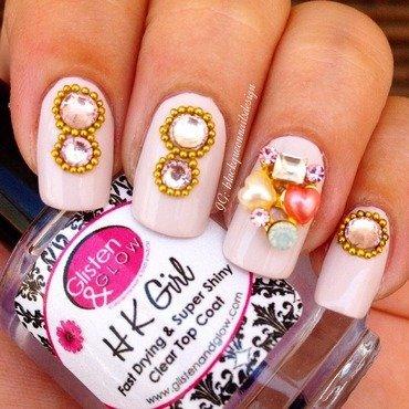 Romantic nail art by Blackqueennailsdesign