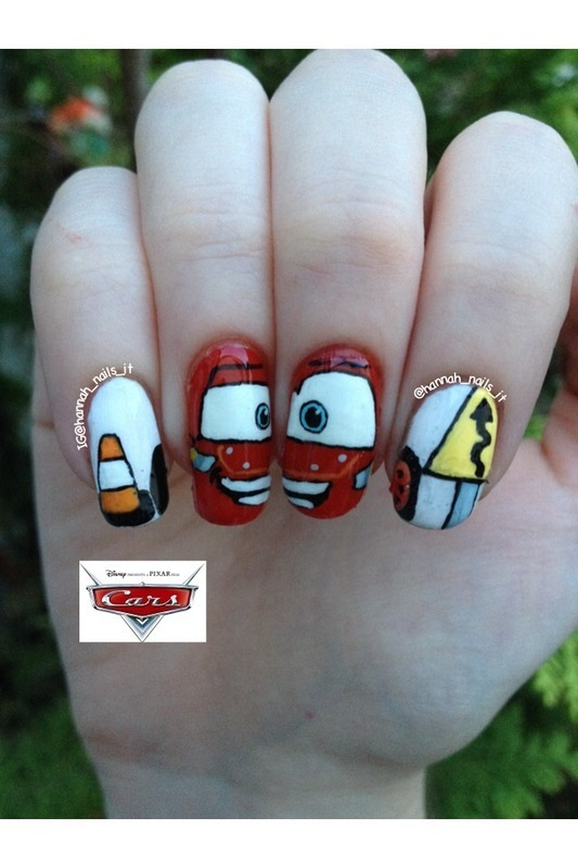 Life is a Highway nail art by Hannah