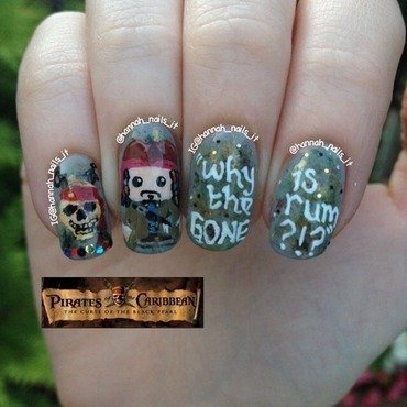 A Pirate's Life for Me nail art by Hannah