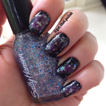 Lost in space nail art by Luciana