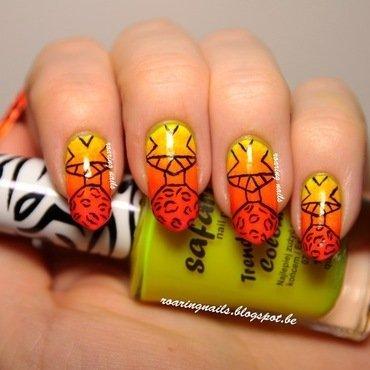 Tribal & Leopard Print nail art by Robin