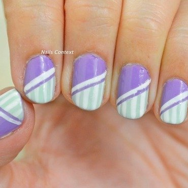 Lavender and Mint nail art by NailsContext