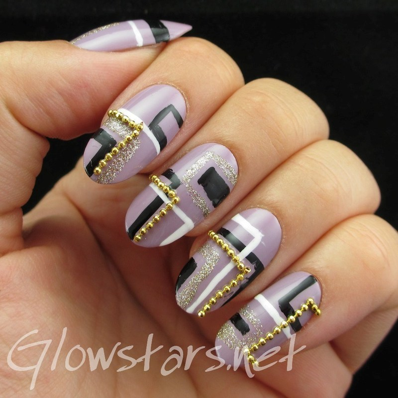 Nail Max Collections vol. 10 – design Purple 077 nail art by Vic 'Glowstars' Pires