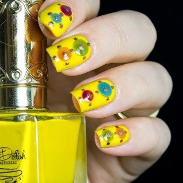 O so dollish hella yella nail art 4 thumb370f