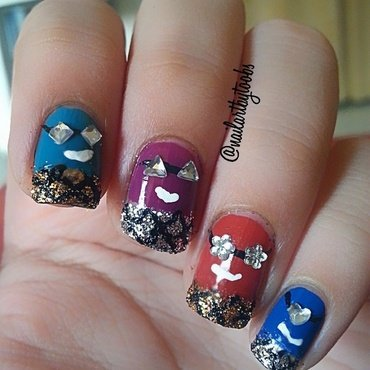 Party Minionss nail art by toobasiraj