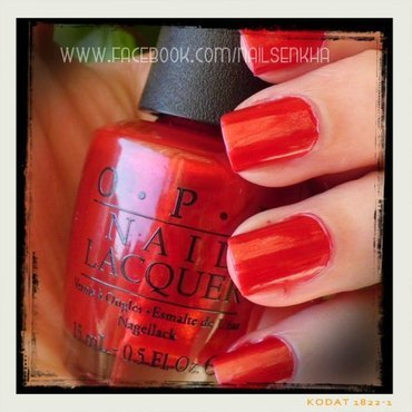 OPI Danke-Shiny Red Swatch by Nailsenkha