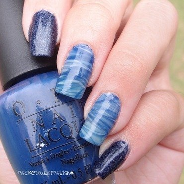 Double Water Marble  nail art by Pocketfulofpolish