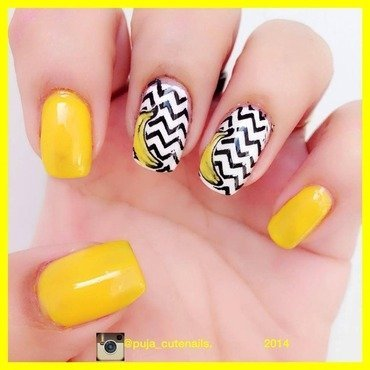 Going bananas nail art by Puja Malhotra