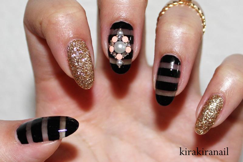 Sheer Black Nails nail art by Kira Kira - Nailpolis: Museum of Nail Art