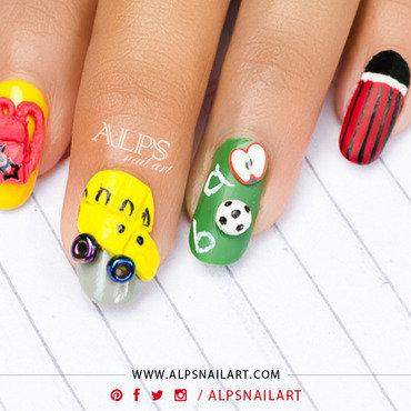 Back to School Nailart by Alpsnailart nail art by Alpsnailart
