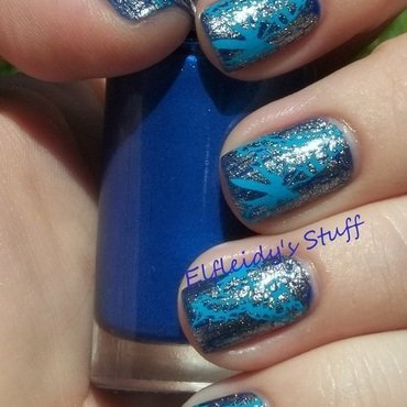 Stamping over Shatter nail art by Jenette Maitland-Tomblin