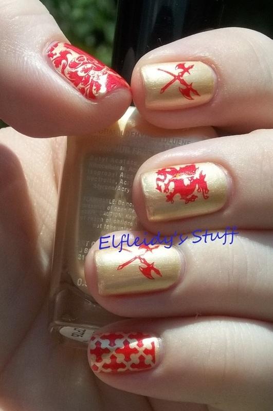 Stamping Sunday 8-24-2014 nail art by Jenette Maitland-Tomblin