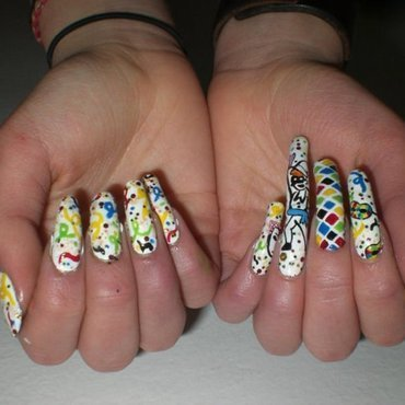 Party nail art nail art by Giulia Cecchini