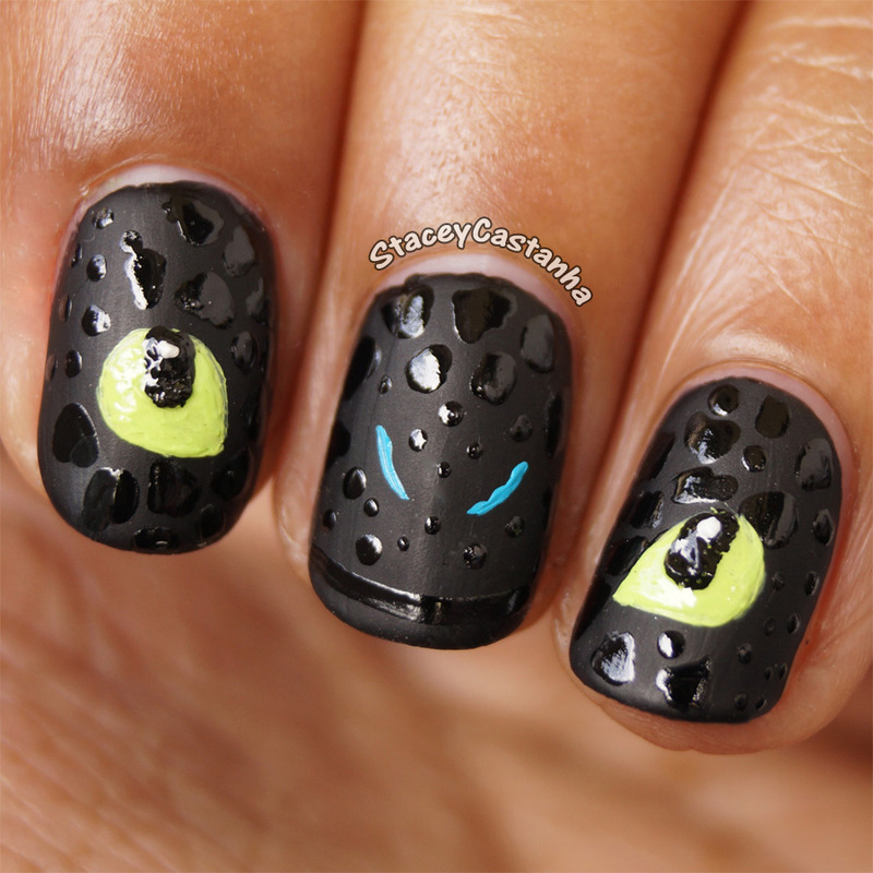 How to train your dragon toothlessnight fury nail art by stacey how to train your dragon toothlessnight fury ccuart Choice Image