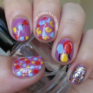 Celebration Party Nails for Nailpolis nail art by Lisa N