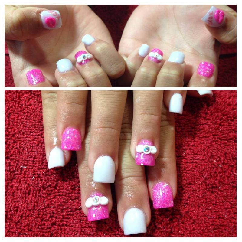 Girly Girl Nails nail art by Beth Marie