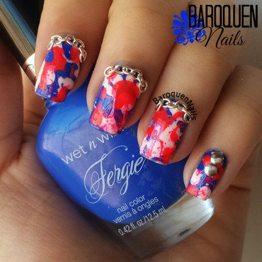 Street Style Splatter nail art by BaroquenNails