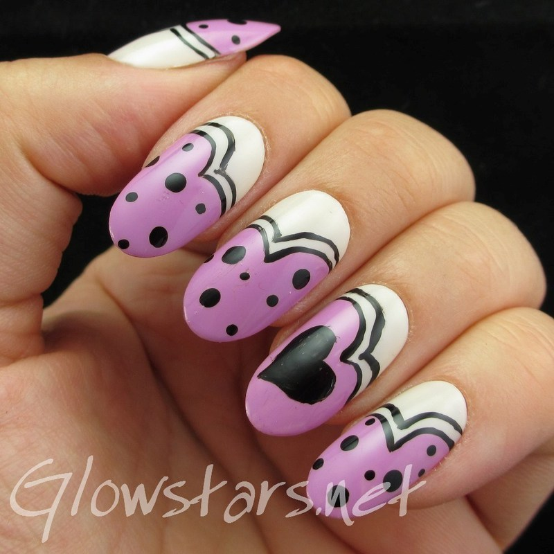 Nail Max Collections vol. 10 – design Purple 076 nail art by Vic 'Glowstars' Pires