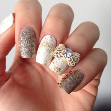 As gold as it gets  nail art by NailThatDesign