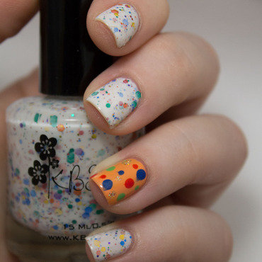 KBShimmer Oh, Splat! Dotticure nail art by Julie