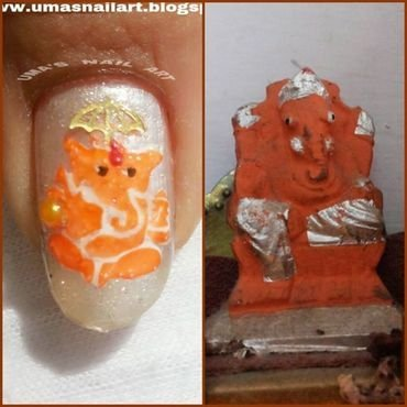 LORD GANESHA nail art by Uma mathur