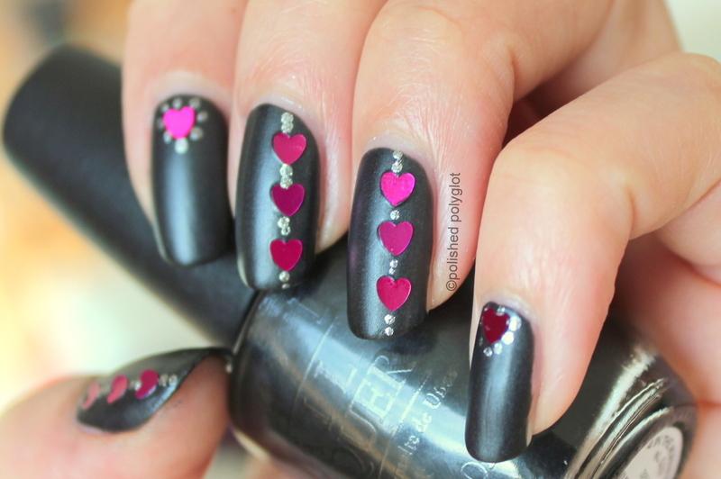 Rock'n Love nail art by Polished Polyglot