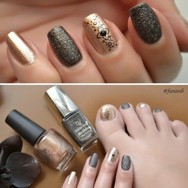 Elegant manicure and pedicure nail art by Andrea  Manases