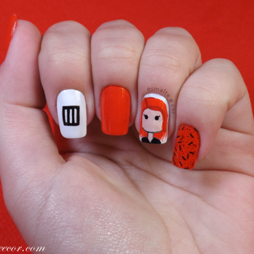 Paramore nail art by Gabriela Becker