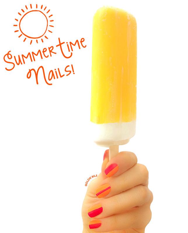Summer Time Nails! nail art by Goldi