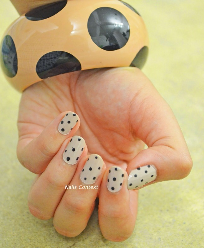 Polka Dot Nails nail art by NailsContext