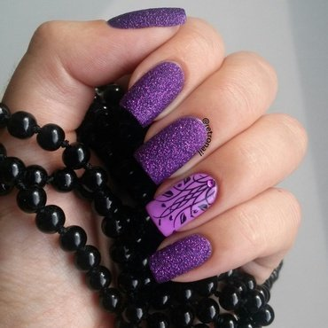 Texture & Purple nail art by retronail