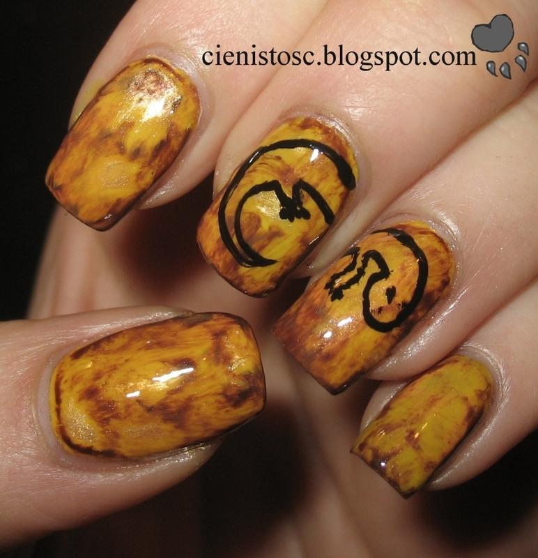 Amber nail art by theCieniu