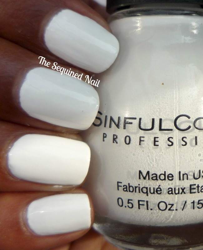 Sinful Colors Snow Me White Swatch by TheSequinedNail