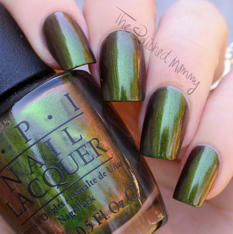 OPI Green on the Runway nail art by The Polished Mommy