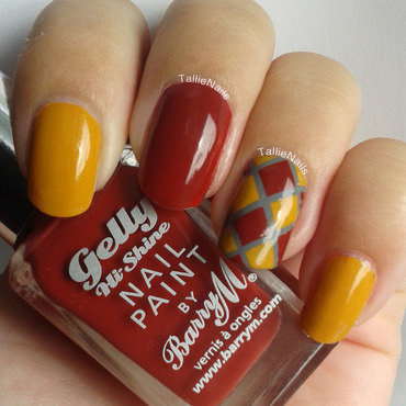 Autumn Striping Tape Mani nail art by Tallie