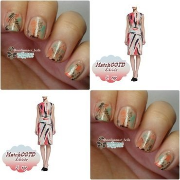 MatchOOTD 9. | Nude with drybrush nail art by Isabella
